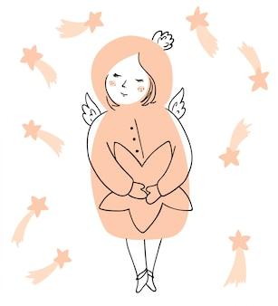 Ange de noël avec étoile
