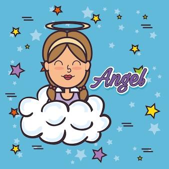 Angel fairy godmother pop art