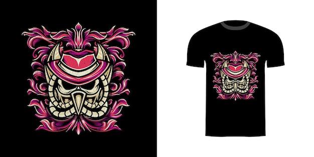 Angle d'illustration design tshirt avec texture grunge