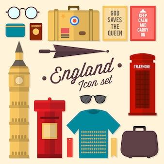 Angleterre jeu d'icônes