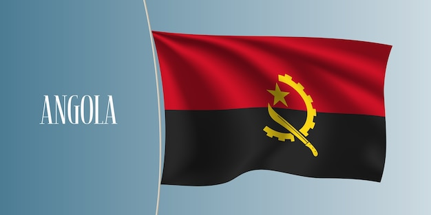 Angola, agitant le drapeau illustration vectorielle