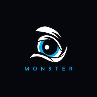 Angry monster eye thème - illustration vectorielle