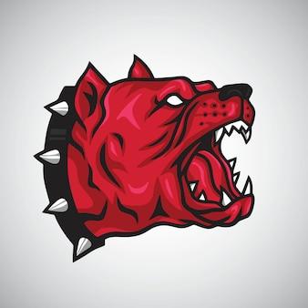 Angry pitbull logo vector