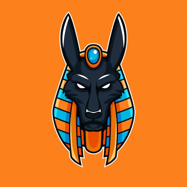 Anibus égyptien dieu mythologie mascotte esport gaming logo