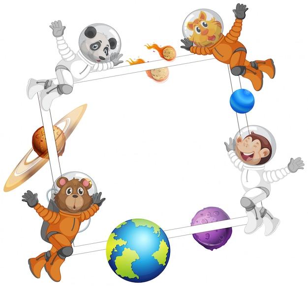 Animal sur le cadre de l'espace