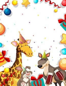 Animal sur cadre de fête