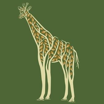 Animal girafe