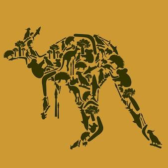 Animal kangourou