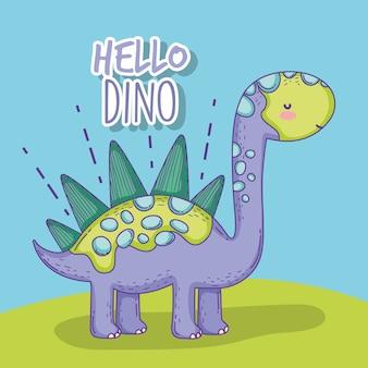 Animal mignon de dino de faune de stegosaurus