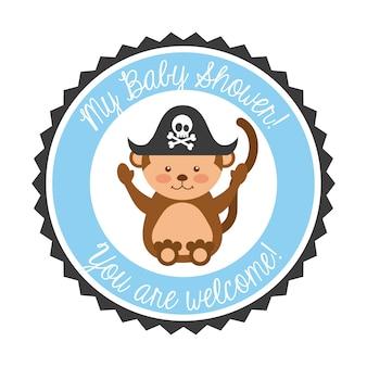 Animal mignon invitation de douche de bébé