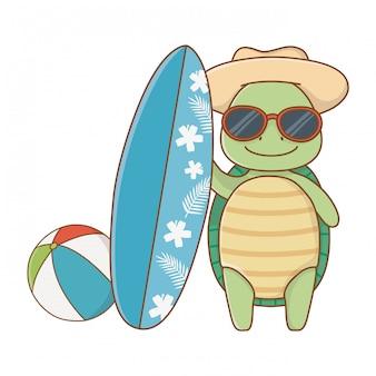 Animal mignon profitant des vacances d'été
