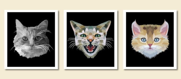 Animal print animal de compagnie pop art portrait isolé décoration