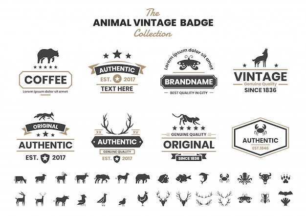 Animal vintage pour bannière