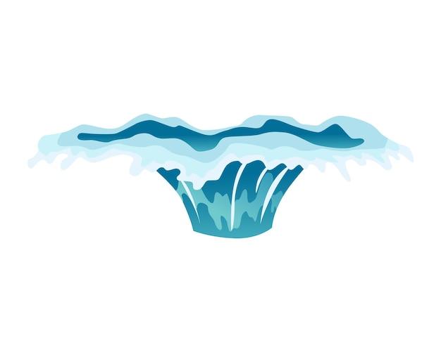 Animation d'éclaboussures d'eau. effet spécial de gouttes d'eau. feuille d'effet. une goutte d'eau claire éclate pour l'animation flash dans les jeux et les vidéos. cadre de dessin animé