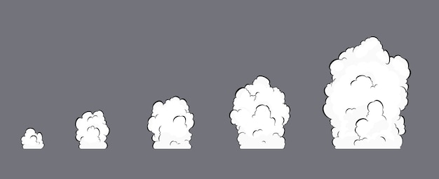 Animation d'explosion de fumée. animation de fumée. animation d'explosion