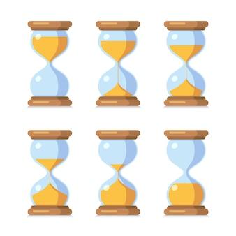 Animation de feuille de sprite antique horloge de sable.