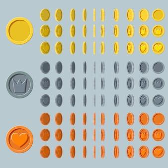 Animation de rotation de pièces de monnaie