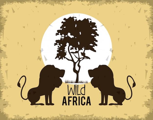Animaux de l'afrique sauvage