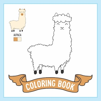 Animaux de l'alpaga coloring book pages