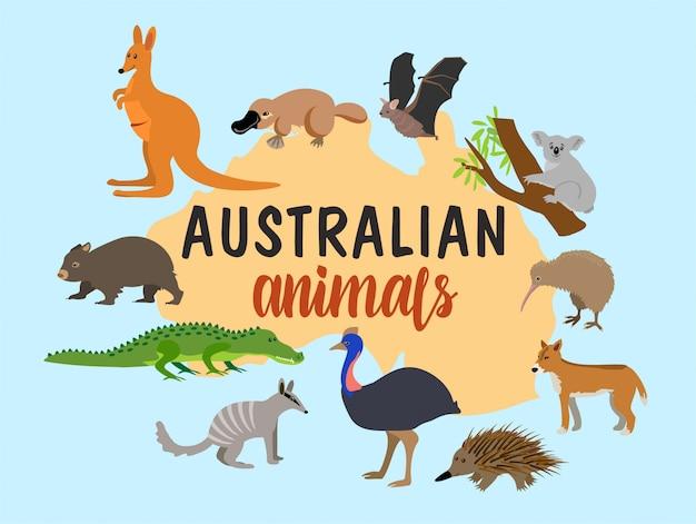 Animaux australiens.