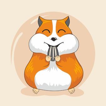 Animaux de dessin animé mignon hamster