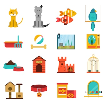 Animaux icons set