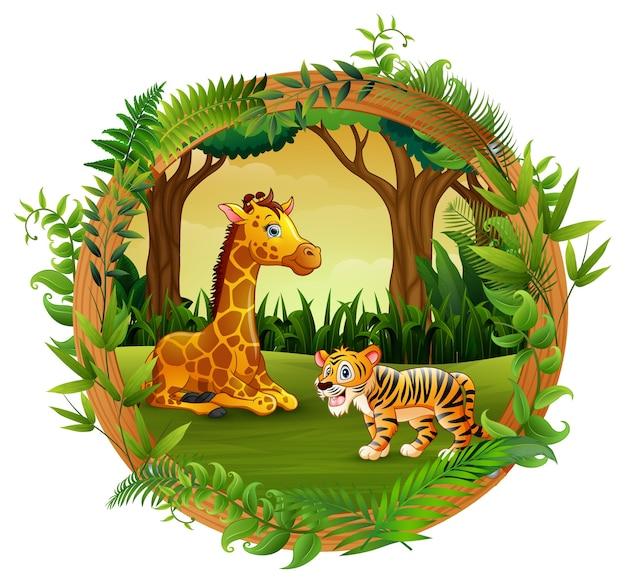Les animaux jouent ensemble