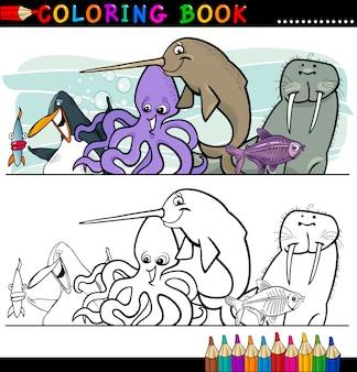 Animaux marins et marins à colorier