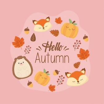 Animaux mignons en automne