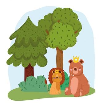 Animaux mignons dans la forêt