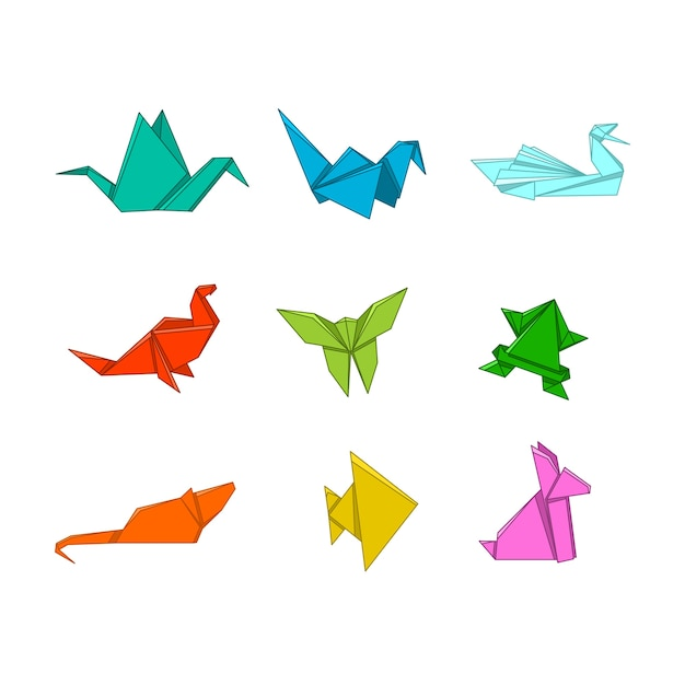 Animaux d'origami