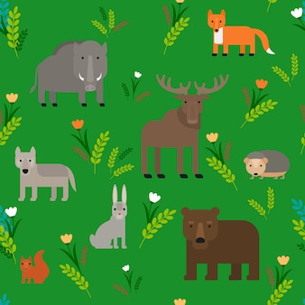 Animaux seamless pattern