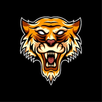 Animaux tiger logo style sport