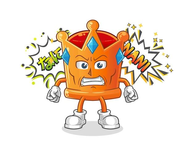 L'anime de la couronne en colère. dessin animé