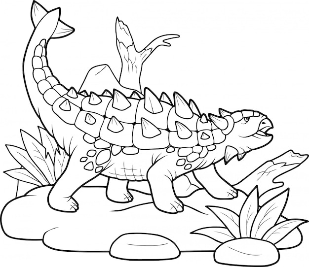 Ankylosaure de dinosaure,