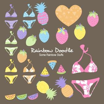 Anna rainbow objects doodle