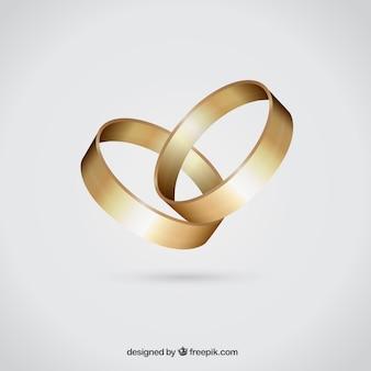 Anneaux de mariage d'or