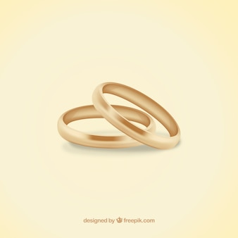 Les anneaux de mariage en or