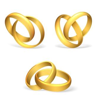 Anneaux de mariage de vecteur