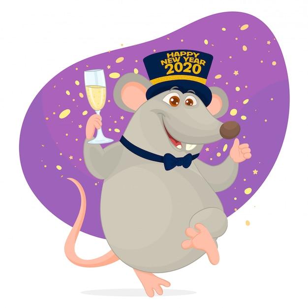 Année du rat. nouvel an chinois