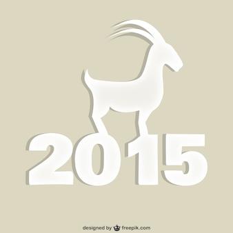 Année de la silhouette de chèvre