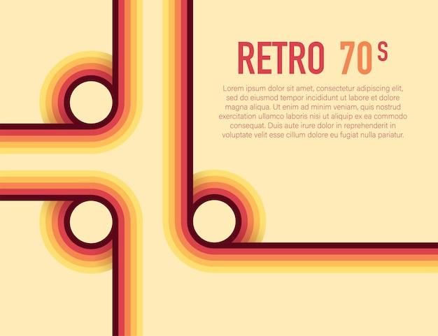 Années 70, 1970 abstract vector stock lignes rétro arrière-plan. illustration vectorielle