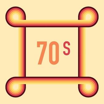 Années 70, 1970 abstract vector stock lignes rétro arrière-plan. illustration vectorielle.
