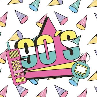 Les années 90 mobile et jouet électronique