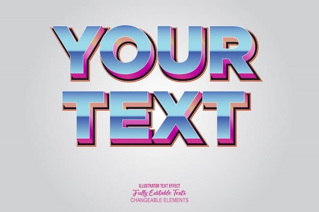 Années quatre-vingt vintage style dégradé texte effet graphique