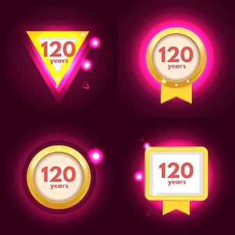 Anniversaire 120 icônes définies