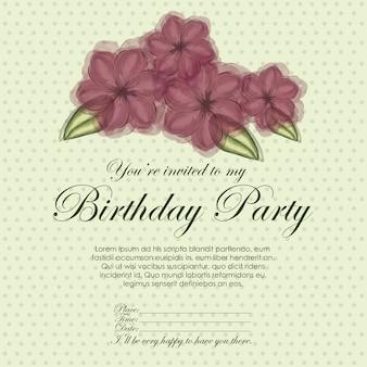 Anniversaire d'invitation florale