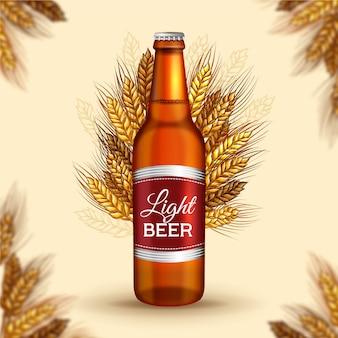 Annonce de bière avec illustration vintage