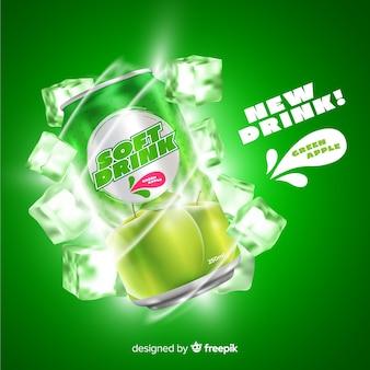 Annonce de boisson gazeuse