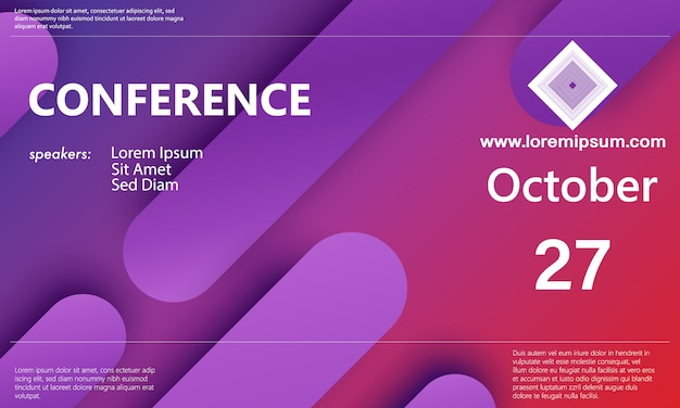 Annonce de la conférence. fond d'affaires